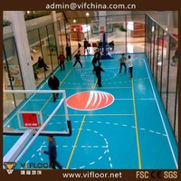 UV Coating Indoor PVC Basketball Court Flooring For Sale
