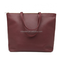 High quality Plain full grain leather tote bag