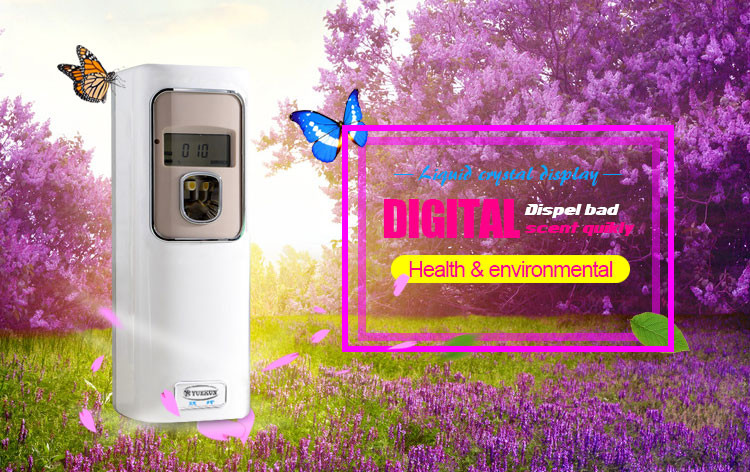 Wall mounted mini digital room deodorizer machines lcd automatic spray perfume aerosol dispenser for air fragrance