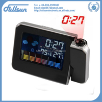 Hot sale digital color LCD display LED projection alarm clock FS-8190