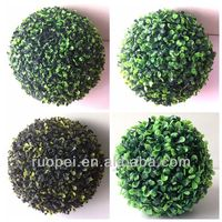 Natural green outside decorations ball plastic hedge ball