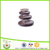 30mm shinny dark brown color lucky coin shape natural coconut shell custom facial slimming massage tools