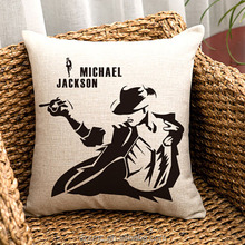 Dancer King Michael Jackson Moonwalk High Quality Washable Comfortable Plain Cushion Cover Pillow Case throw pillow Cover