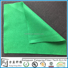 China factory needle punch non woven felt fabric in green
