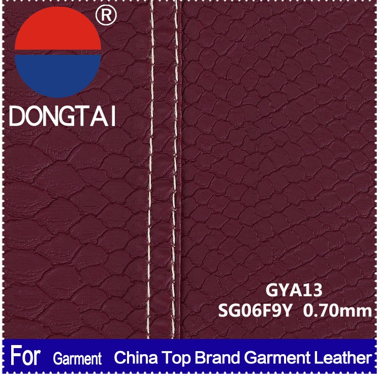 DONG TAI High quality pu leather clothing women for garment
