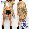 Yihao New Fashion Boho Floral Bird Print Fringed Tassels Kimono Cardigan Blouse Shirt Jacket Top