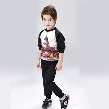 model hot selling popular kids boy's clothes set