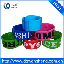 Bright Colorful Snap Bracelets Assortment, Colorful Silicon Snap Wedding Band for man