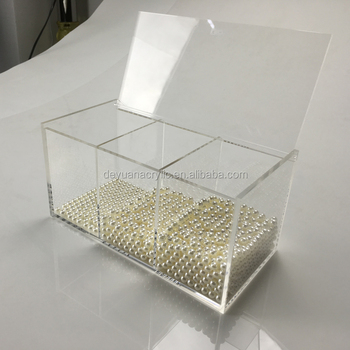 Acrylic Makeup Organizer with Renovate Lid For Jewelry