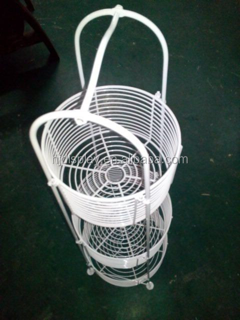 Metal Wire Basket Display Wire Mesh Display Case Basket Storage Display Stand