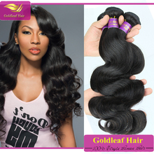 Chinese company Top quality Srtong Double weft human hair weave 100% brazilian human hair
