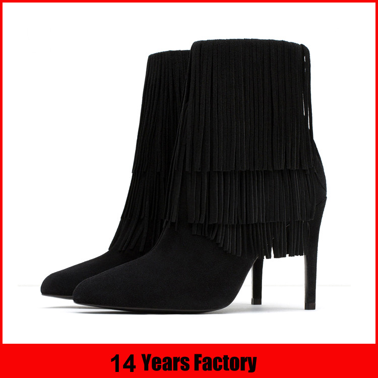 wholesale 2016 winter thin high heel women boots