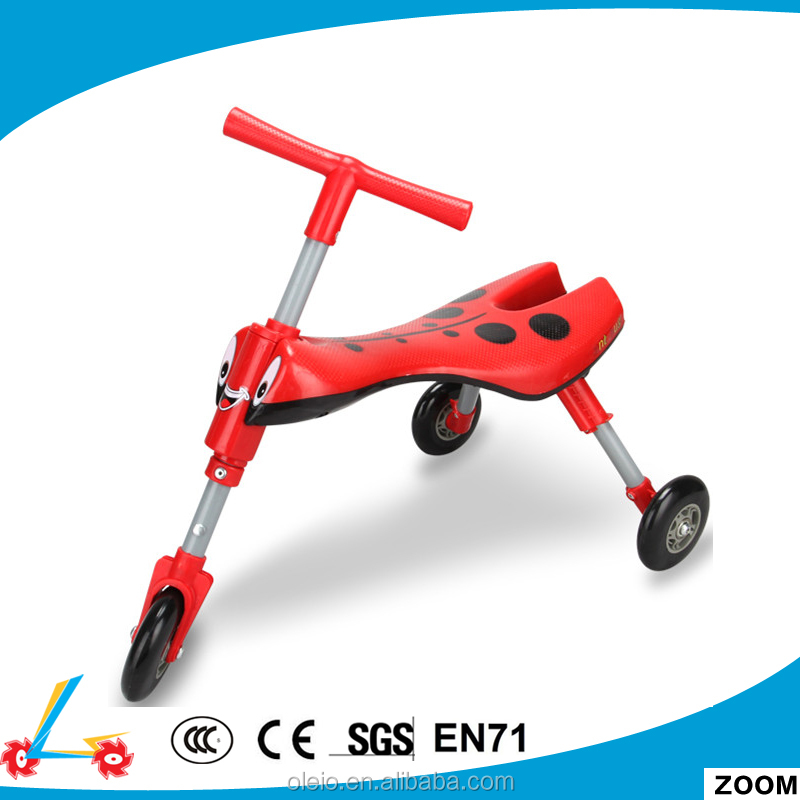 Kids Trike Bug Scooter With 3 Wheels and Front Wheel Steering/folding kids plastic scooter bug scooter/walking scooter