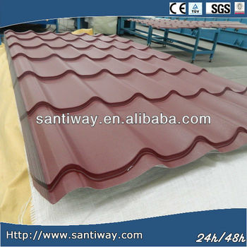 2014 hot selling CE & ISO steel roof sheet PPGI metal roof tile