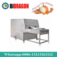 Onion Powder Processing Plant / Onion Peeling And Root Cutting Machine