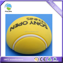 small MOQ 3D soft pvc rubber tennis ball design fridge magnet