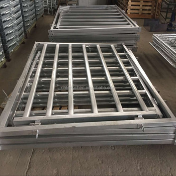 Galvanized cattle fencing panels