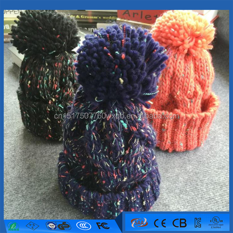 Eco-Friendly Graffiti variegated wool hat winter knitted 100% Acrylic hats