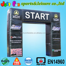 customized square legs black advertising Inflatable Arch with detachable printing
