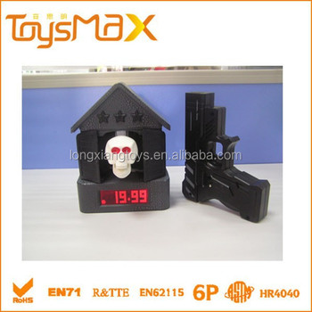 Ghost House Funny Table Children's Alarm Clock with gun
