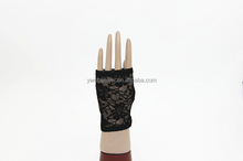 Meganium Sexy Stretch Lace short Fingerless Gloves For Women's Party Evening