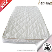 high quality polyester Fire retardant memory foam 100% cotton mattresses cover