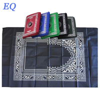 Wholesale muslim prayer compass Islamic Travel Prayer Mat with Pocket Sized Carry Bag