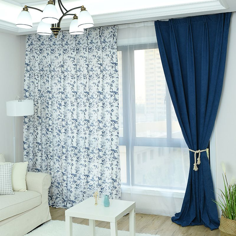 2018 printing blackout drawing room Curtain from factory direct selling