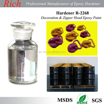 Decoration Art Epoxy Glue Curing Agent, Artifical Plants Water Drop glue Epoxy Hardener R-2268 ,color yarn flooring coating