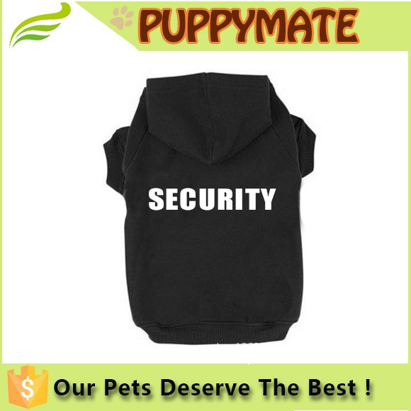 Logo Print Dog Clothes/Pet SECURITY Printed Polyester/Cotton Basic for Puppy Dog Hoodie