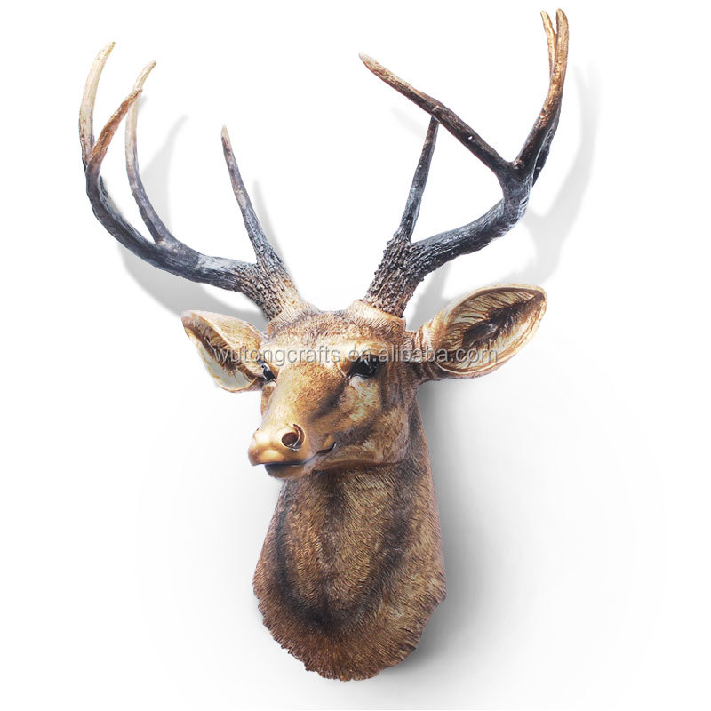 Plastic Deer Head Wall Decor : Wall hanging deer head in resin for home or