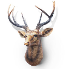 Wall hanging deer head in resin for home or shop decoration