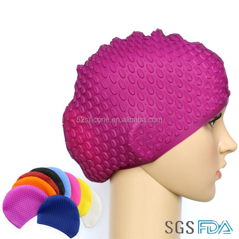 Wholesale Humanized design Waterproof water-drop Swimming cap Adults swim caps Ear protection