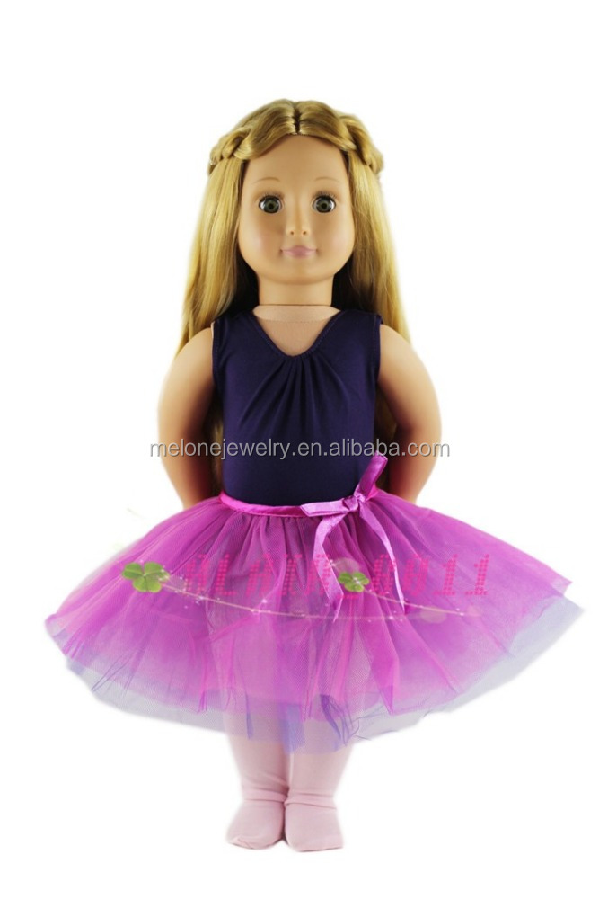 Wholesale Doll Clothes For 18 Inch Dolls 18 Inch American Girl Ballet Clothes As Girl's Christmas Gift