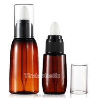 Guangzhou Tinda 15ml 30ml 60ml eye essence oil plastic dropper bottle cosmetic skincare container