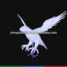 LED eagle sculpture,outdoor christmas lights animals,festival decoration