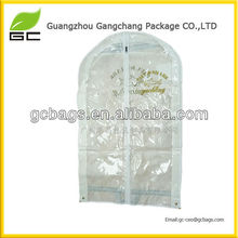 Custom Color Printed Plastic Clear PVC Garment Bag With Pocket