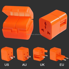 MOBILE PLUG;PLUG CONNECTOR;Orange PLUG 110v-250v travel adapter plug