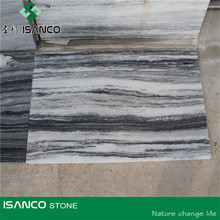 White Marble with Black Wood Veins Wooden Grain Marble wood slab