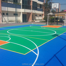 ZSFloor portable outdoor basketball court tiles floor sports flooring