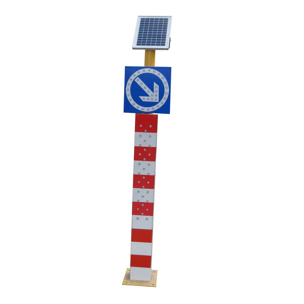 Power directional arrow sign led solar powered stop sign solar road sign
