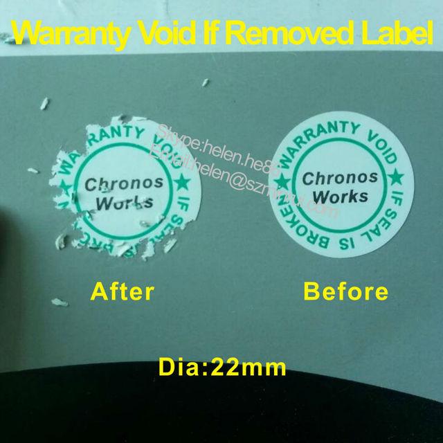 Electronic repair warranty stickers,fragile paper warranty void labels
