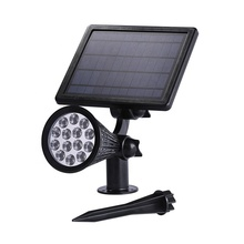 Low Voltage Outdoor Spot Lighting Wireless Waterproof Wall And Spike Mounted Solar Light Garden