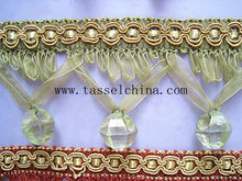 China Home Decor Lampshade Beaded Fringe; Decorative Fringe Trimming