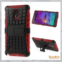 Kickstand High Impact Armor back Cover case for samsung galaxy note 4 Armor Hard Combo Protective Case