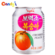 238ml canned drink 100 pure houssy healthy natural peach juice for sale
