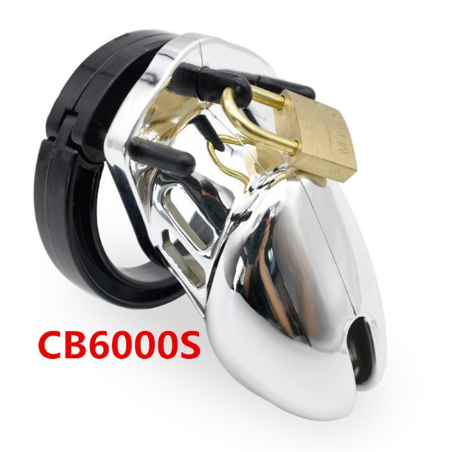 Plastic CB6000 CB6000S Male Chastity Device Cock Cage Chastity Belt BDSM Toys Penis Cage Silver Plated