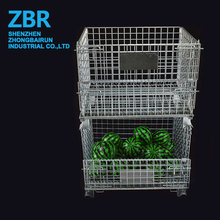 High Quality Galvanized Portable Container Metal Wire Storage Cage