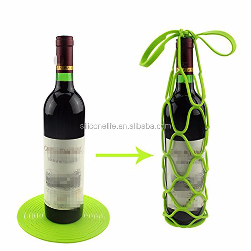 New Arrived Multi-purpose Silicone Wine Bottle Carrier Holders Hanger , Water Bottle Carrier