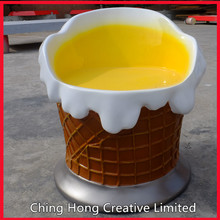 Fiberglass ice cream chair and table for amusement park, theme park